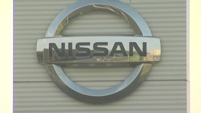 shows aerial shots nissan factory in sunderland, england with a large amount of new cars parked outside, exterior shots nissan factory including... - plant stock videos & royalty-free footage