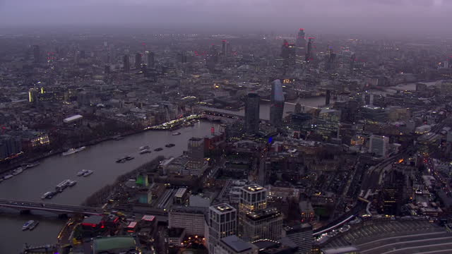 shows aerial shots rooftops of central london, green park, st james' park, westminster, river thames & southbank, on a rainy winter's day. london and... - blurred motion stock videos & royalty-free footage