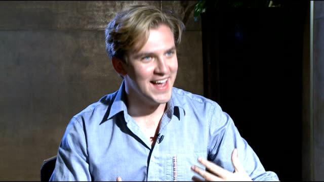Downton Abbey Season 3 Cast interviews ENGLAND London INT Dan Stevens interview SOT Matt Milne and Ed Speleers interview SOT