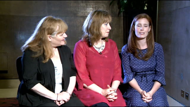Downton Abbey Season 3 Cast interviews Lesley Nicol Phyllis Logan and Amy Nuttall interview SOT Sophie McShera and Cara Theobold interview SOT