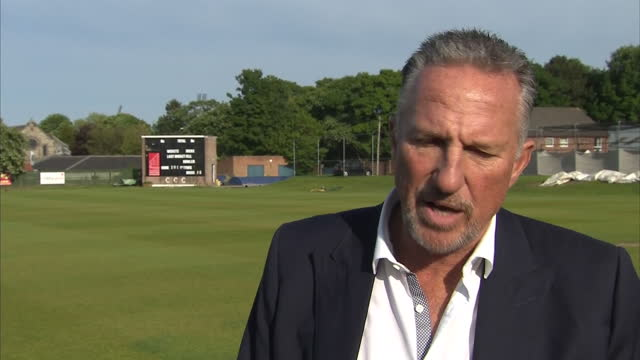 shows exterior shot interview with 'out' supporter and former england cricketer speaking on support for brexit quote england is england as the... - 2016 european union referendum stock videos and b-roll footage