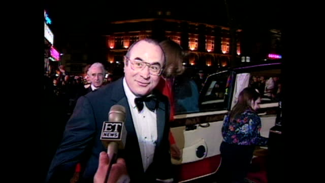 shows exterior shots actor bob hoskins on reaction to the film and departure following the royal premiere of the film 'hook' on april 07 1992 in... - hook stock videos & royalty-free footage