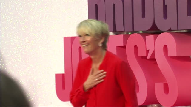 shows exterior shots actress emma thompson posing for photos and joined by her daughter gaia on pink carpet and talking to press at premiere for... - emma thompson stock videos & royalty-free footage