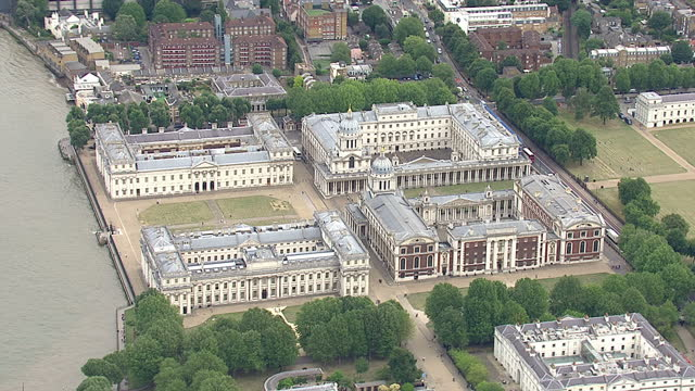 shows exterior shots aerials the national maritime museum naval college gardens queen's house on august 12 2015 in london england - royal navy college greenwich stock videos & royalty-free footage
