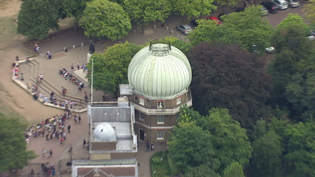 shows exterior shots aerials the royal observatory greenwich with people on site on august 12 2015 in london england - royal navy college greenwich stock videos & royalty-free footage