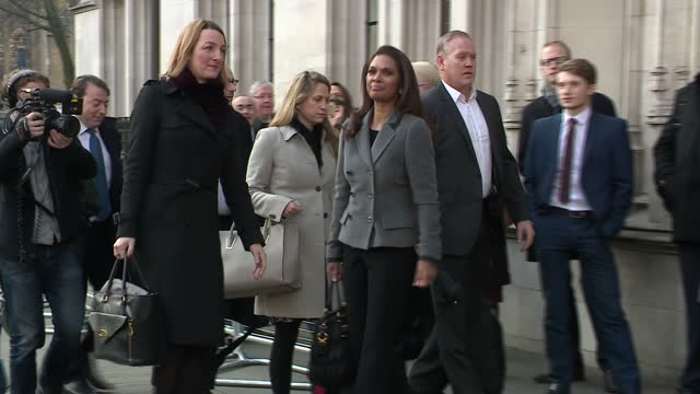 shows exterior shots antibrexit campaigner gina miller arriving at the supreme court and posing for photo opportunity before entering the legal... - legal appeal stock videos & royalty-free footage