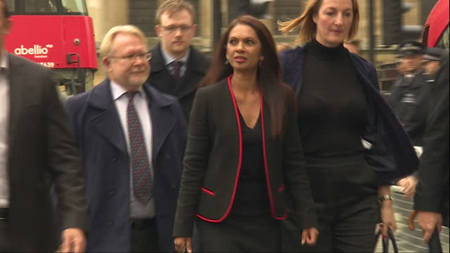 Shows exterior shots AntiBrexit Campaigner Gina Miller arriving at The Supreme Court for final day of Article 50 court case The historic Brexit legal...