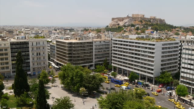shows exterior shots athens city skyline green park area in the city on june 28 2015 in athens greece - panathinaiko stadium stock videos & royalty-free footage