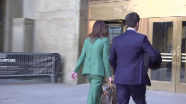 shows exterior shots attorney donna rotunno arriving at court for sentencing of former hollywood producer harvey weinstein. former hollywood producer... - sentencing stock videos & royalty-free footage