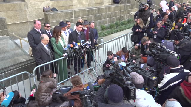 shows exterior shots attorney donna rotunno giving press conference outside court after the sentencing of former hollywood producer harvey weinstein.... - sentencing stock videos & royalty-free footage