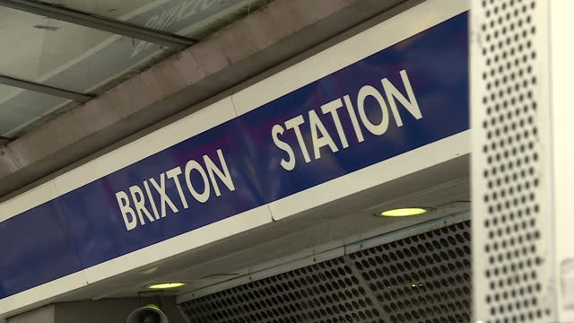 shows exterior shots brixton underground station, london underground, with passengers arriving and leaving, on 23rd may, 2021 in london, england,... - underground station stock videos & royalty-free footage