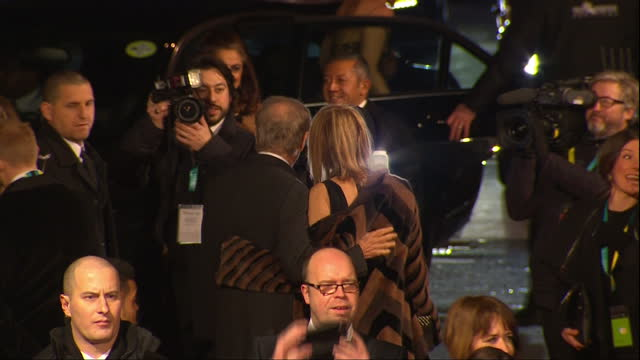 Shows Exterior shots director Steven Spielberg and wife Kate Capshaw arriving and on red carpet The 2016 BAFTAS Film Awards ceremony at was held at...