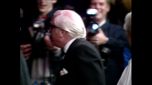 shows exterior shots film director richard attenborough talking to people following the royal premiere of the film 'hook' on april 07 1992 in london... - hook stock videos & royalty-free footage