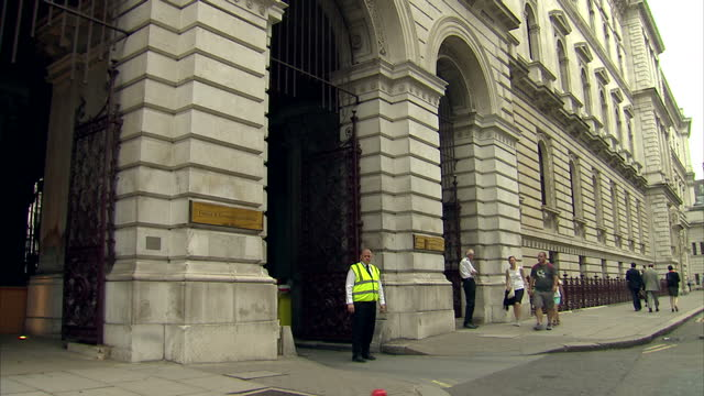 shows exterior shots foreign and commonwealth government offices in westminster in london after a summer of speculation the prime minister started to... - theresa may stock videos & royalty-free footage