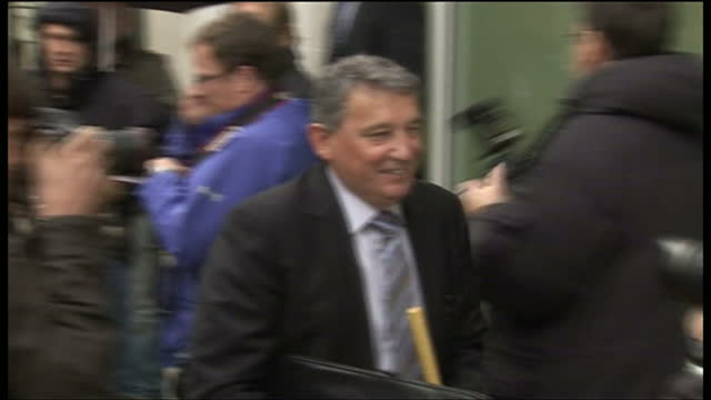 shows exterior shots graham taylor former england football manager arriving at fa headquarters in soho square in london september 5th 2009 in london... - major league soccer stock videos and b-roll footage