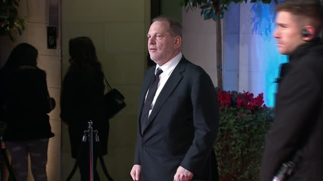 vídeos de stock, filmes e b-roll de shows exterior shots hollywood producer harvey weinstein arriving at the bafta film awards in london england uk on 25th february 2013 - 2017