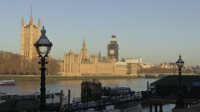 shows exterior shots houses of parliament on banks of the river thames in london theresa may is holding fresh talks with european leaders after... - sunny stock videos & royalty-free footage