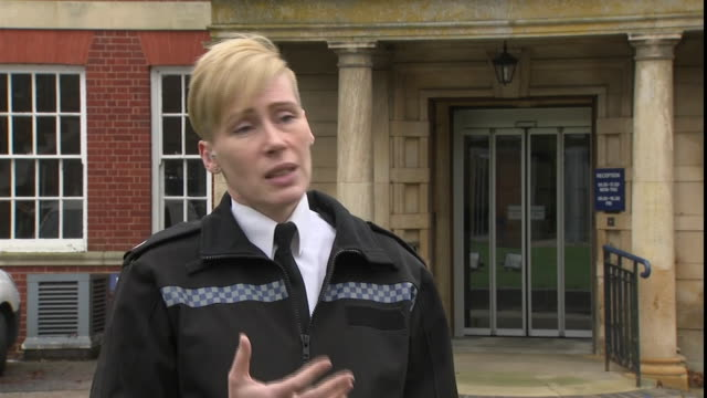shows exterior shots interview northamptonshire police superintendent sarah johnson speaking on harry dunn case the family of harry dunn who was... - prosecution stock videos & royalty-free footage