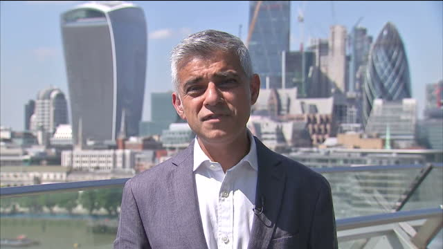 Shows exterior shots interview soundbite with Mayor of London Sadiq Khan speaking on helping Grenfell Tower Survivors The Government is sending in a...
