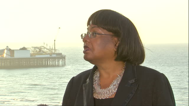 shows exterior shots interview soundbite with shadow home secretary and labour mp diane abbott speaking on two year transitional period for brexit... - diane abbott stock videos & royalty-free footage