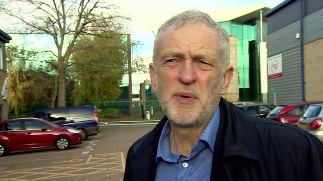 shows exterior shots interview soundbite with uk labour leader jeremy corbyn speaking on fidel castro's death and lifetime achievements the former... - fidel castro stock videos and b-roll footage