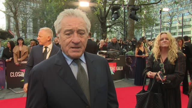 shows exterior shots interview with actor robert de niro speaking on the filming donald trump he's a monster without even realising he's too stupid... - actor stock videos & royalty-free footage