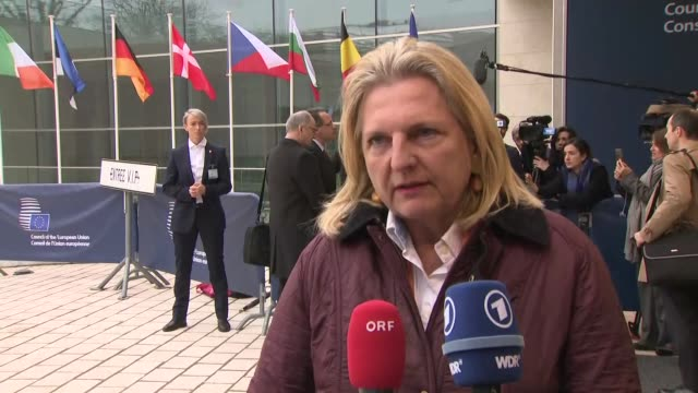 shows exterior shots interview with austrian foreign minister karin kneissl speaking on brexit uncertainty. with the clock ticking down, theresa may... - uncertainty stock videos & royalty-free footage