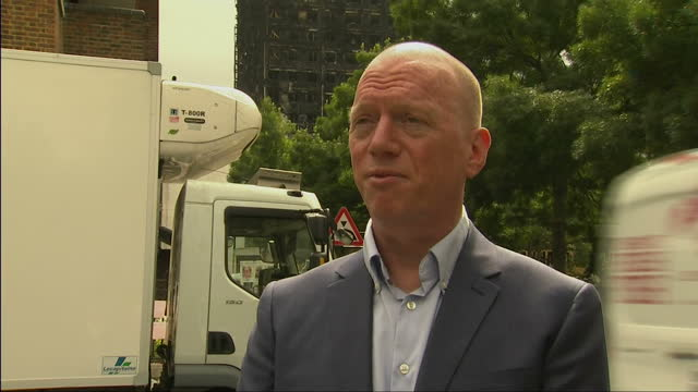 shows exterior shots interview with general secretary of the fire brigade union matt wrack speaking on fire regulations in the uk and fire services... - witness stock videos & royalty-free footage