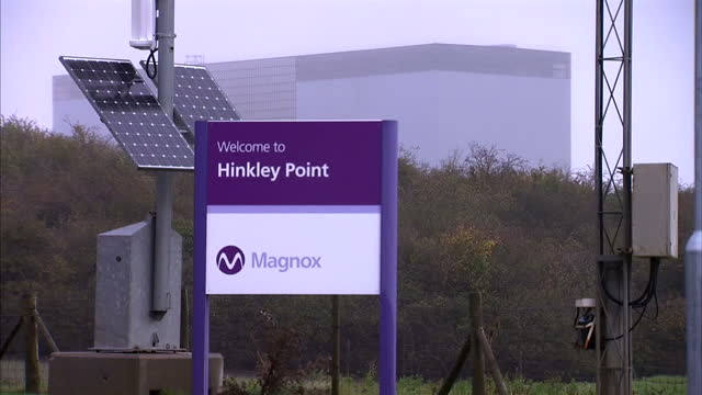 vídeos y material grabado en eventos de stock de shows exterior shots interview with norbert tangy, edf executive and union representative on fears hinkley point will never be finished. exterior... - nuclear energy