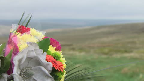 shows exterior shots memorial to murdered school boy kieth bennett, whose body has never been found, on saddleworth moor. ian brady, one of the most... - murder victim stock videos & royalty-free footage