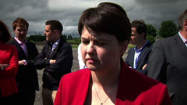 shows exterior shots photocall of 13 new scottish conservative mps with scottish conservative leader ruth davidson msp interview with ruth davidson... - stirling stock videos and b-roll footage