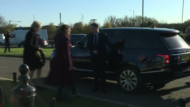 shows exterior shots polish prime minister beata szydlo and uk prime minister theresa may departing from polish raf pilots war memorial in northolt... - prime minister of the united kingdom stock videos and b-roll footage