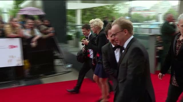 stockvideo's en b-roll-footage met shows exterior shots presenter declan donnelly on red carpet the best of television is honoured at the virgin tv british academy television awards at... - declan donnelly