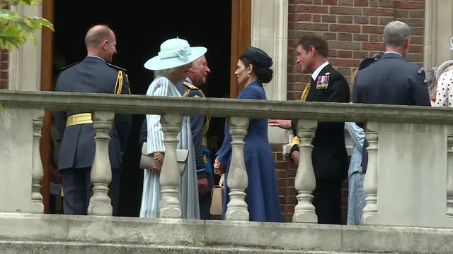 GBR: Prince Charles and Camilla attend Battle of Britain 81st anniversary service at Westminster Abbey