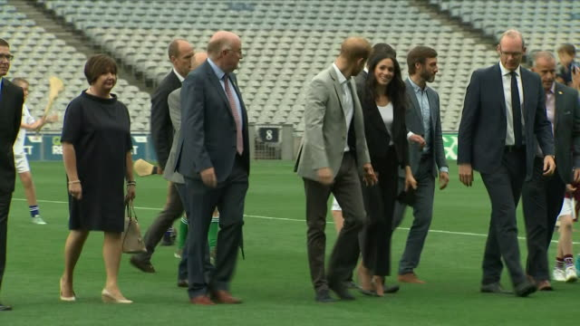 shows exterior shots prince harry duke of sussex and meghan duchess of sussex at croke park home of ireland's largest sporting organisation the... - sussex stock videos & royalty-free footage