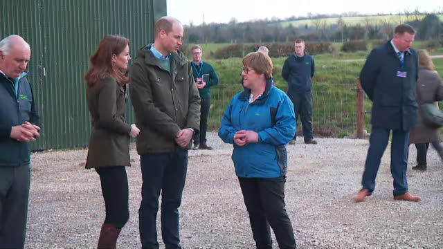 shows exterior shots prince william, duke of cambridge, and catherine , duchess of cambridge talking to farmers and looking plants at a sustainable... - dublin republic of ireland stock videos & royalty-free footage