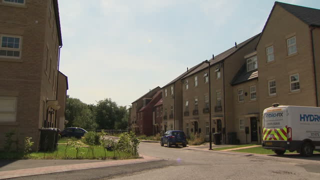 Shows exterior shots Shimmer housing estate that will be affected by HS2 phase 2 development plans The final route of the HS2 high speed rail line to...