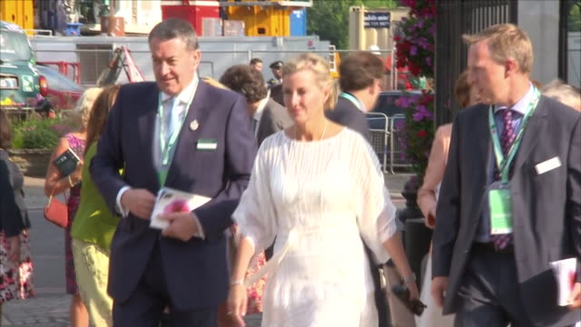 Shows exterior shots Sophie Countess of Wessex arriving at The Chelsea Flower Show on 21st May 2018 in London England United Kingdom