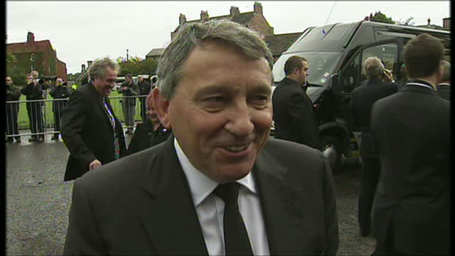 shows exterior shots soundbite with graham taylor former england manager speaking on turnout for bobby moore's funeral on september 9th 2009 in... - major league soccer stock videos and b-roll footage