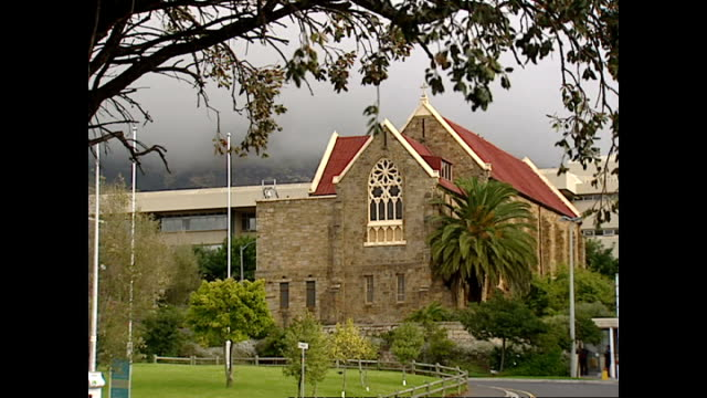 shows exterior shots st marks anglican church and the moravian church in district 6 on april 10 2004 in cape town south africa - anglican stock videos & royalty-free footage