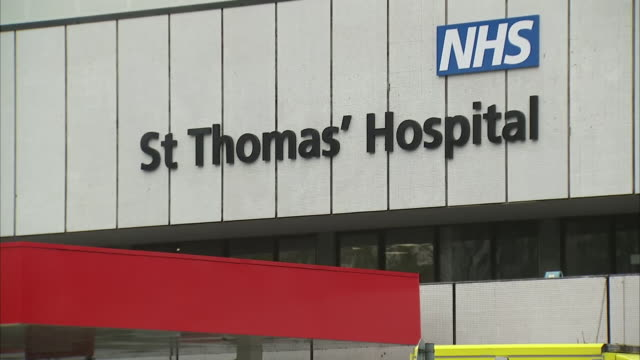 shows exterior shots st thomas' hospital exteriors including the accident and emergency department with ambulances outside where some victims of... - victim stock videos & royalty-free footage