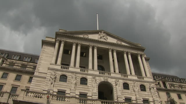 shows exterior shots storm cloud over the bank of england in london o n1st august 2019 in london england united kingdom - storm cloud stock videos & royalty-free footage