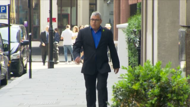 Shows exterior shots survivor Nicholas Burton arriving for opening day of the Phase 1 Grenfell Inquiry hearings The public inquiry into the Grenfell...