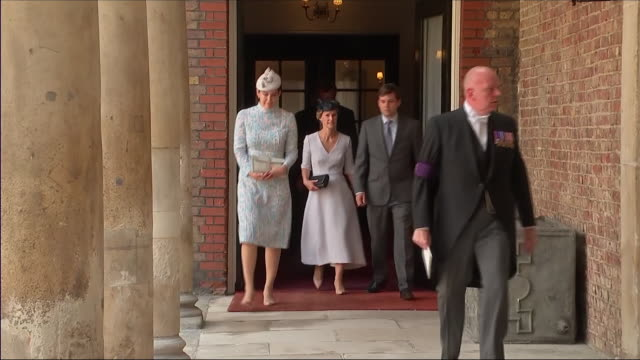 Shows exterior shots The Duchess of Cambridge's cousin Lucy Middleton Hannah and Robert Carter and Harry AubreyFletcher followed by Guy and Lizzy...