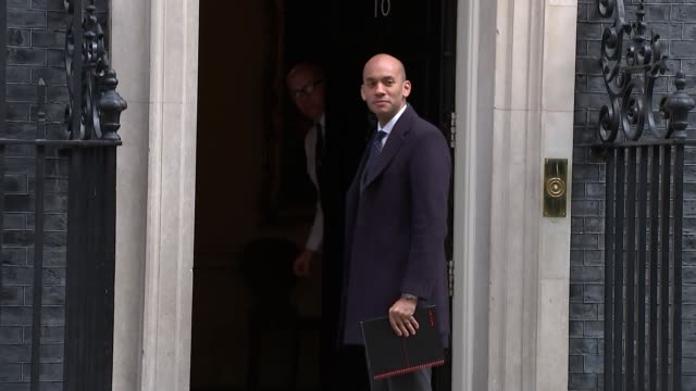 Shows exterior shots The Independent Group MP Chuka Umunna arriving at Downing Street for knife crime summit Theresa May hosted a summit in Downing...