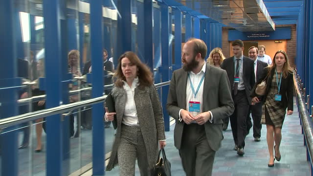 shows exterior shots theresa may's advisors nick timothy and fiona hill leaving conservative party hq morning after the 2017 uk general election... - husband stock videos & royalty-free footage