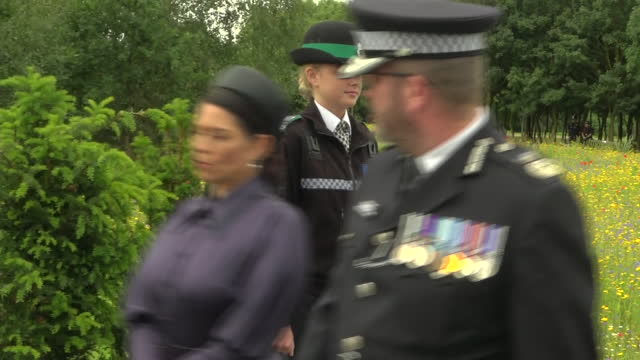 GBR: Prince Charles and other officials attend the unveiling of Police Memorial to those who die in service in the UK