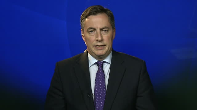 shows interior interview with david mcallister german mep on argument for uk to remain in european union the german chancellor has warned that... - 2016 european union referendum stock videos and b-roll footage