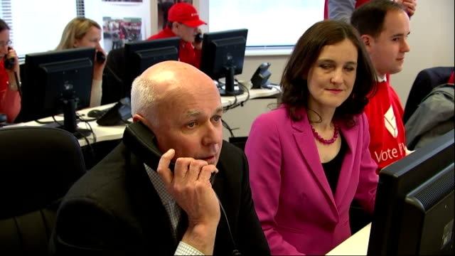 shows interior shots british mp's and members of the cabinet john whittingdale iain duncan smith theresa villiers and chris grayling talking on... - 2016 european union referendum stock videos and b-roll footage