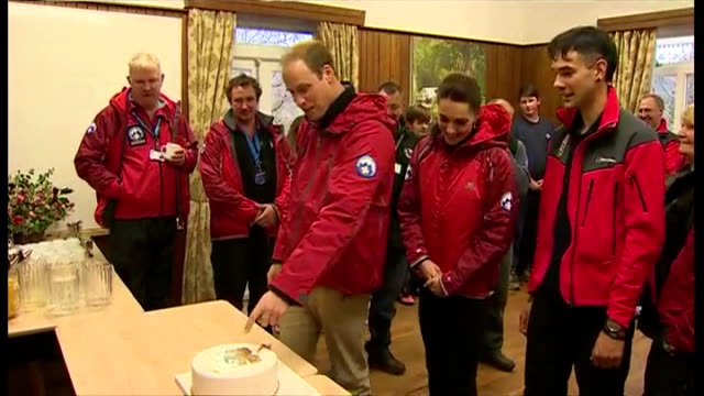 Shows interior shots cake on table which the Duke Duchess cut into on November 20 2015 in Capel Curig Snowdonia Wales